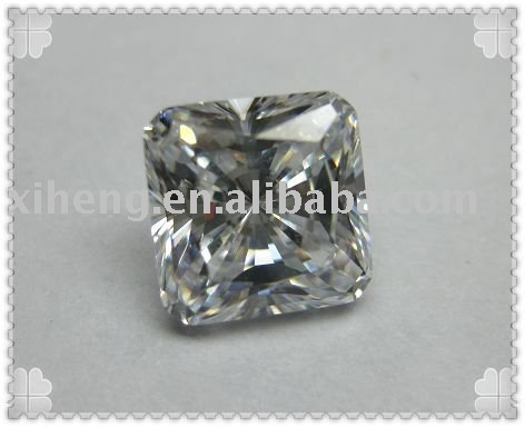 square shape White cubic zirconia stone(China (Mainland))