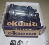 Okuma Tito T 50W Lever Drag Pesca T50W Carrete Trolling