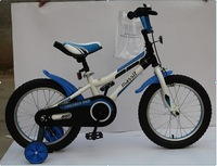 16 inch blue children bikes with training wheel