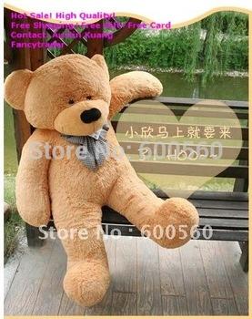 Fancytrader 71 INCHES (180cm) New Light Brown Giant Plush Teddy Bear, Valentine Gift, plush teddy bear, Free shipping FT90057