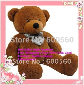 Fancytrader 71 INCHES (180cm) Classical Dark Brown Giant Plush Teddy Bear, Valentine Gift, plush bear, Free Shipping FT90057