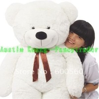 Giant Teddy Bear WHITE COLOR 71 INCHES (180cm) Free Shipping FT90057