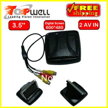 Promotion 3.5'' Flip Up Digital Car TFT LCD Monitor