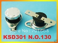 20 pcs Temperature Control Switch Thermostat 130 C N.O. 130 Degree KSD 301 Free Shipping