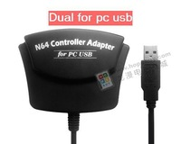 Free Shipping -wholesale /Dual N64 N64 Gamepad Controller USB Game Adapter