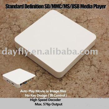 Free shipping!Adverting player box/SD/MMC USB media player/TV Card player Auto play/Iplayer TV009