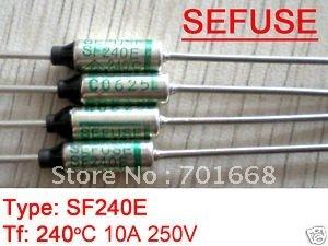 10 шт. Microtemp термопредохранитель 240C TF среза SF240E