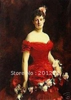 """Free shipping 100% handpainted art oil painting:""""Woman portrait"""" 24x36"""""""