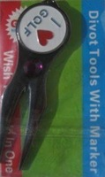 Marker pitch fork I LOVE Golf Divot Repair Tool Ball&free shipping