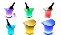 free shipping LED Color Changing Ice Bucket with Remote Control