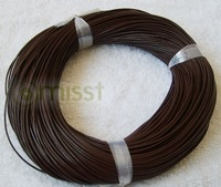 coffee round real leather jewelry cord 1.5mm 100m lenth  Free shipping wholesale