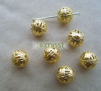 600pcs gold pated hollowl filigree spacer beads 12mm