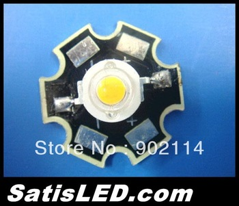 20pcs 3W High Power LED warm white160-180LM with Star Aluminium PCB Board Free Shipping