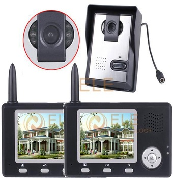 1 to 2 / 2 in 1 One outdoor camera with two indoor monitors apartment intercom system wireless Video Door Phone