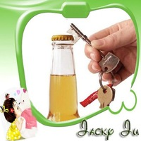 Free Shipping New Key Shape Beer Soda Bottle Opener Keychain Bar Tool