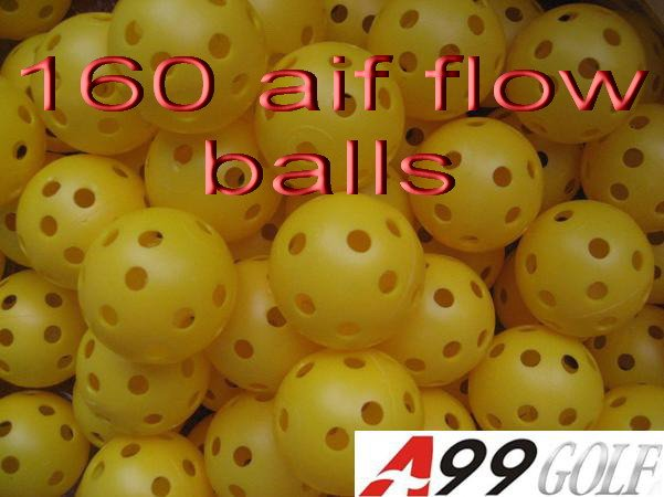A99 golf 160pcs Yellow air flow GOLF BALL practice Plastic perforated(China (Mainland))