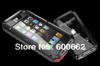 New arrival water proof shockproof dirtproof Metal phone case with gorilla glass Case For iphone 5 with retail package