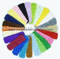 Crochet headband waffle headband for baby 1.5inch Free shipping 24 colors U-Pick