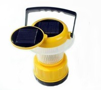 Double solar panel 9 LED Solar camping lantern light  Emergency lamp Adjustable brightness 4pcs/lots  Free shipping