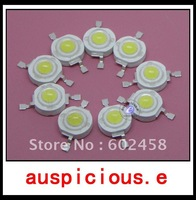 100pcs/lot, 1W High-Power  White Red Green Blue Yellow  Warm White LED bulb