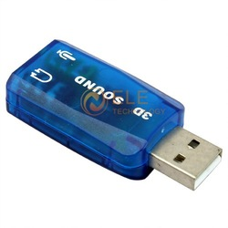 USB 3D SOUND CARD USB 2.0 to 3D AUDIO SOUND CARD ADAPTER VIRTUAL 5.1 ch(China (Mainland))