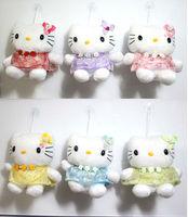 Job lots of 24pcs cute Hello kitty soft Toy 18X13cm C10 Free shipping