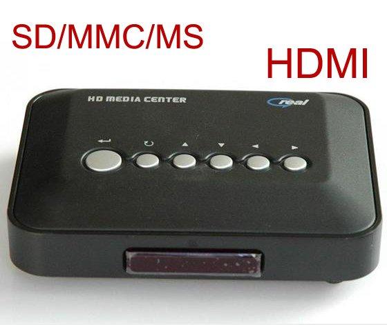 Wholesale MP5 RM / RMVB HD Media Player - USB HDD / SD / MS - MP3 DIVX DVD - HDMI - 14 pcs per lot(China (Mainland))