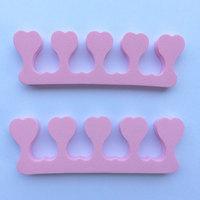 50 pcs/lot nail file nail art EVA heart shape Soft Finger Toe Separator for nail care