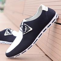 Promotion!! size 39-44 Men Canvas Sneakers Breathable Male Shoe Lace-Up Platform Canvas Men Sneaker 2014