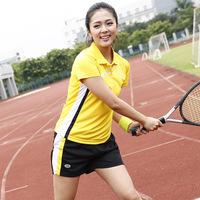 Feidler tennis male female summer short-sleeve T-shirt set