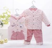 Children's clothing autumn and winter baby set piece 0 - 1 - 2 years old children's clothing set autumn and winter vest three