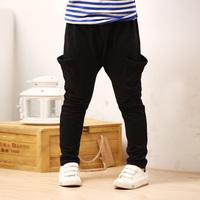 Hot sales boys harem trousers pants 2014 new male child autumn winter 100% cotton school pants children clothing freeshipping
