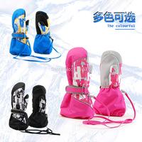 Free Shipping 2014 Child ski gloves thermal gloves child winter windproof glovesUltra long ski gloves