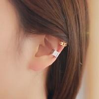 E2232 korean earring love moon cutout stud earring glossy earrings
