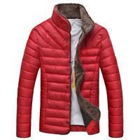 Autumn and winter slim men's short down jacket clothing berber fleece cotton-padded jacket male short thickening wadded jacket