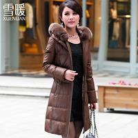 2014 medium-long down coat female slim thickening women's down coat winter 78