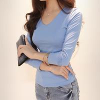2014 autumn women's fashion slim women's long-sleeve long johns all-match top basic shirt