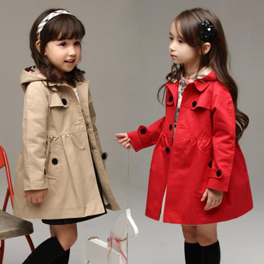 Free shipping 2014 autumn girls hooded fashion coat girls jackets long-sleeve trench outerwear wt-2708(China (Mainland))