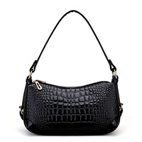 New 2014 Women bag  Fashion brand women handbags High-quality crocodile pattern woman bags Double zipper patent leather tote HOT