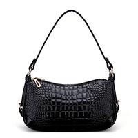 New 2014 Women bag  Fashion brand women handbags High-quality crocodile pattern woman bags Double zipper patent leather tote HOT