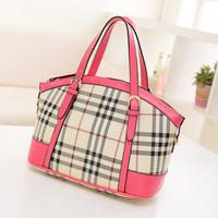 2014 fashion fashion plaid shell bag vintage handbag cross-body shoulder bag the trend of female bags