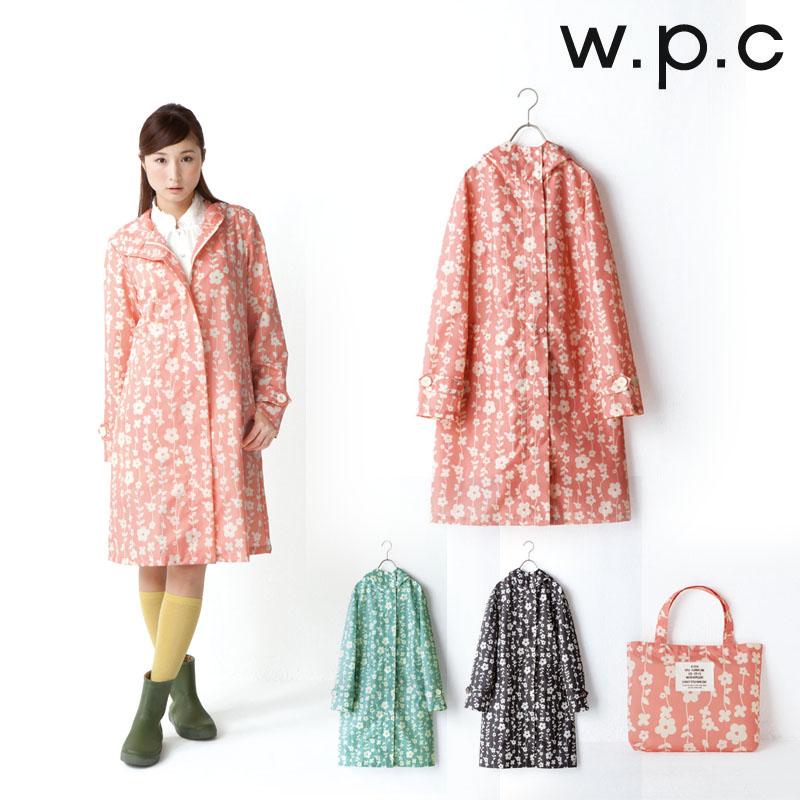 2014 New fashion wpc cute flower polyester green/black/pink thin raincoat women rain poncho outdoors travel waterproof trench(China (Mainland))