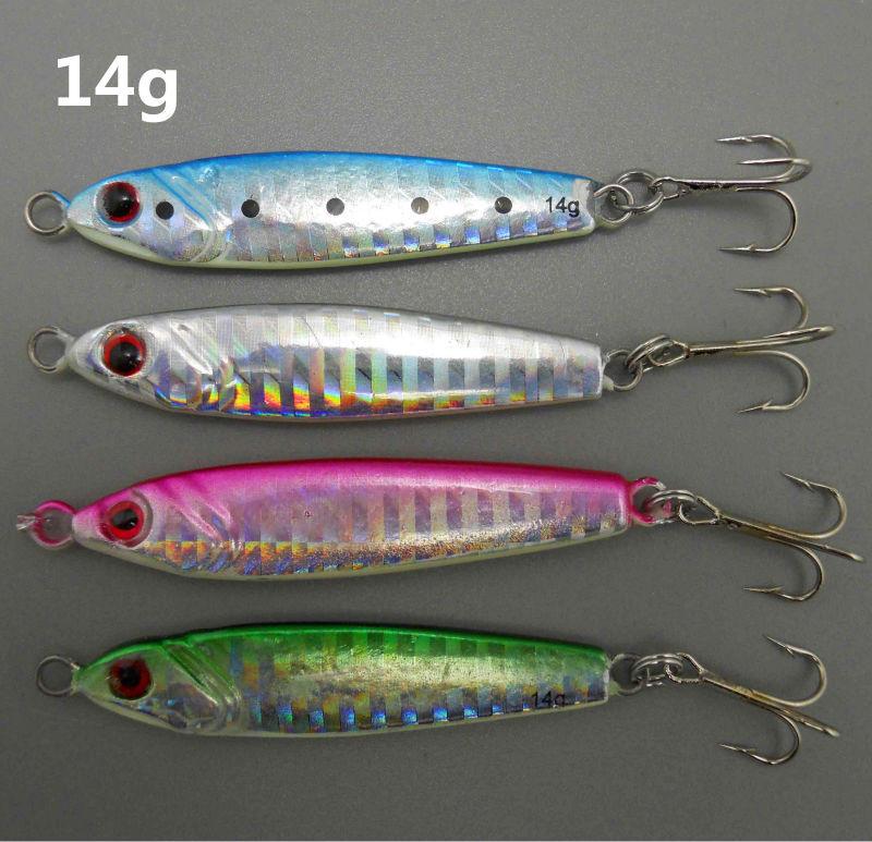 8 pcs / lot Hot issue!! mini metal jig mini lead fish fishing lead fish 14g 6.2cm(China (Mainland))