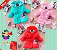 Children's clothing 2014 Winter girls fashion coat children zipper sweater, girls Parkas princess cotton coat