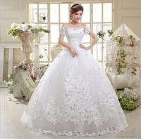 2014 New Arrival Off The Shoulder Bridal Ball Gown Floor Length Wedding Dress SH598