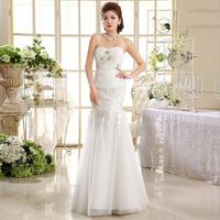 2014 New Arrival Off The Shoulder Elegant Mermaid Floor Length Bridal Wedding Dress HS508