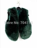 Fluffy faux fur vest short design multi-color for selection