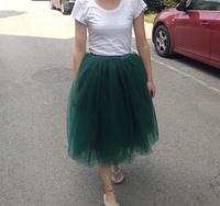 2015 runway Pannier brand dance practice skirt medium-long tulle skirt princess skirts bust skirt  ball gown fairy gauze skirts