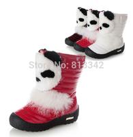 2014 Winter Toddler Children's Rabbit Fur Bear Cotton-padded Boots Thickening Girls Plush Snow Boots
