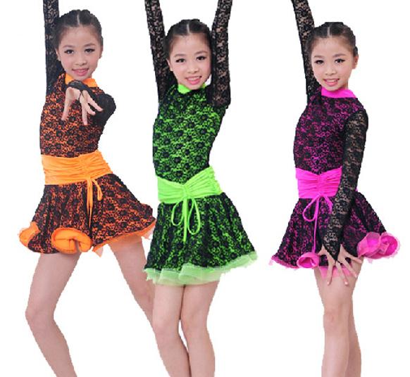custom make 1558 free shipping Latin clothing girls Latin dance dress women ladies Ballroom dance performance practice wear(China (Mainland))